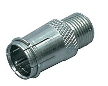 Valueline FC-027 - Anténní adaptér F-Quick zástrčka - F zásuvka Stříbrná