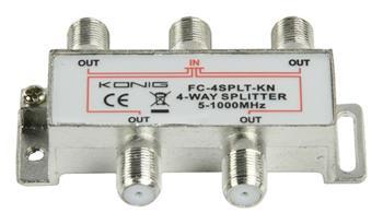 König FC-4SPLT-KN - CATV Rozbočovač 8.0 dB / 5-1000 MHz - 4 Výstupy