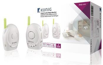 König KN-BM10 - Dětská Chůvička Audio 2.4 GHz Bílá/Zelená