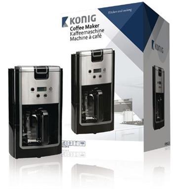 König KN-COF10 - Kávovar 900 W 12 Šálků, černá/Stříbrná