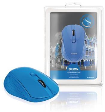 Sweex NPMI5180-07 - Bezdrátová Myš Stolní 3 Tlačítka Modrá