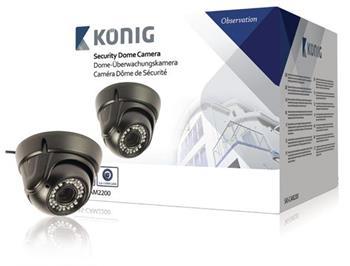 König SAS-CAM2200 - Kopulová CCTV kamera 700 TVL, černá
