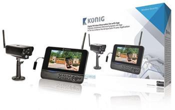 König SAS-TRANS62 - Digitální Bezdrátová Pozorovací Sada 2.4 Ghz - 1x Kamera