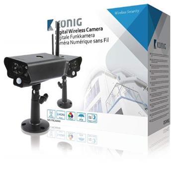 König SAS-TRCAM40 - 2,4 GHz bezdrátová kamera venkovní VGA, černá