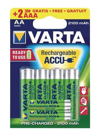 Varta VARTA-567R2USO - Dobíjecí NiMh Baterie AA 1.2 V 2100 mAh 6-Blistr
