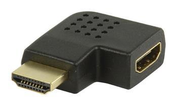 Valueline VGVP34903B - adaptérem High Speed HDMI s Ethernetem Úhlový Levý HDMI Konektor - HDMI Vstup, černá