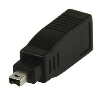 Valueline VLCP62900B - adaptér FireWire 400 FireWire 4-pin zástrčka - FireWire 6-pin zásuvka, černá
