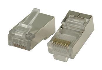Valueline VLCP89302M - Konektor RJ45 Drát STP CAT5 zástrčka PVC Transparentní