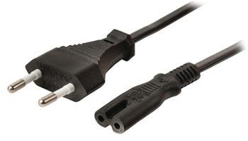 Valueline VLEP11040B20 - Euro napájecí Kabel Euro Konektor zástrčka - IEC-320-C7 2.00 m, černá