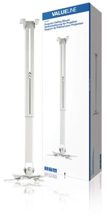 Valueline VLM-PM21 - Stropní držák Projektoru Full Motion 10 kg Stříbrná