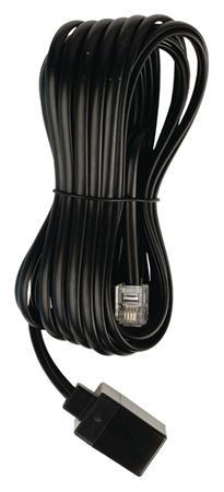 Valueline VLTP90205B50 - Telefonní Prodlužovací Kabel RJ11 (6P4C) zásuvka - RJ11 (6P4C) zástrčka Plochý 5.00 m, černá