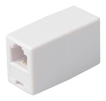 Valueline VLTP90920W - Telefonní spojka RJ11 (6P4C) zásuvka - RJ11 (6P4C) zásuvka, bílá