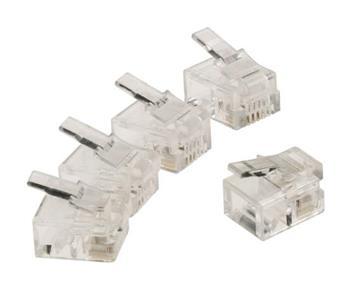 Valueline VLTP90923T - Telefonní Konektor RJ11 zástrčka PVC Transparentní, 10 ks