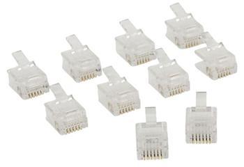 Valueline VLTP90933T - Telefonní Konektor RJ12 zástrčka transparentní, 10 ks