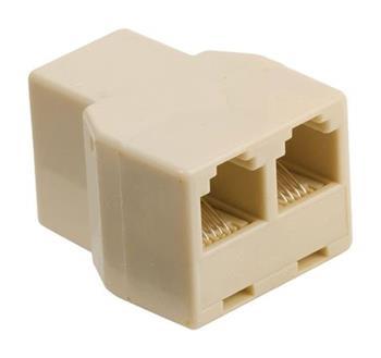 Valueline VLTP90990I - Telefonní adaptér RJ11 (6P4C) zásuvka - 2x RJ11 (4/6) zásuvka Slonová Kost