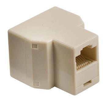 Valueline VLTP90991I - Telefonní adaptér RJ45 (8P8C) zásuvka - 2x RJ45 (8P8C) Female Slonová Kost