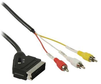 Valueline VLVP31130B20 - SCART Kabel SCART zástrčka - 3x CINCH zástrčka 2.00 m, černá