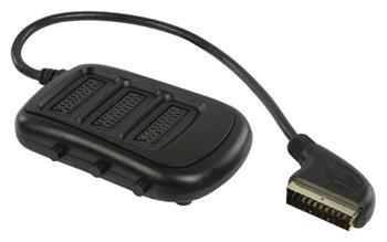 Valueline VLVP31835B05 - SCART Přepínač SCART zástrčka - 3x SCART zásuvka 0.50 m, černá