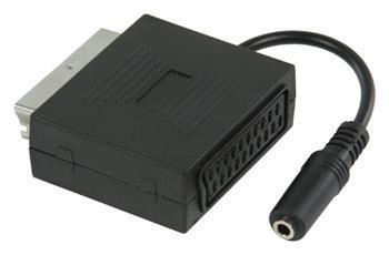Valueline VLVP31930B02 - SCART Kabel SCART zástrčka - SCART zásuvka + 3.5mm zásuvka 0.20 m, černá