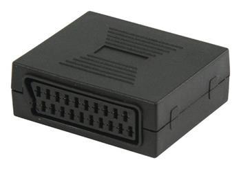 Valueline VLVP31950B - adaptér SCART SCART zástrčka - SCART zásuvka, černá