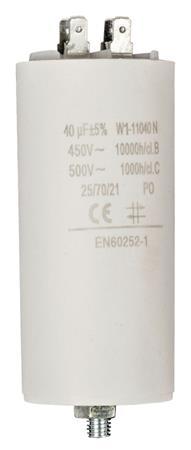 Fixapart W1-11040N - Kondenzátor 450V + Zem Produktové Označení Originálu 40.0uf / 450 v + earth