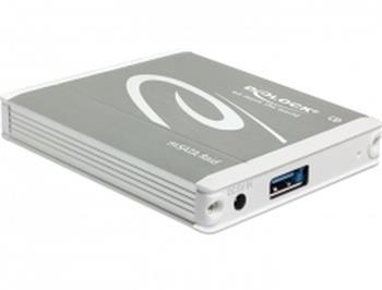 Delock Externí pouzdro 2 x mSATA > USB 3.1 Gen 2 s RAID