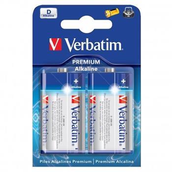 VERBATIM baterie D 1,5V Alkalické 2pck/BAL