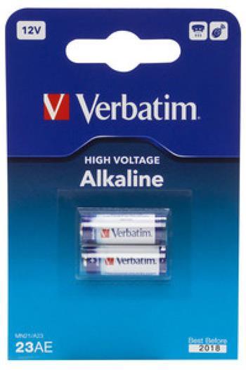 VERBATIM alkalické baterie 23AE (MN21), 12V, 2ks