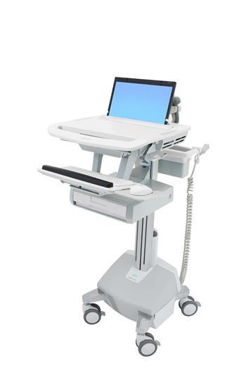 ERGOTRON StyleView® Laptop Cart, LiFe Powered, 1 Drawer (1x1), pojízdný stojan, NTB, Klávesnice, myš, s napájením + šup