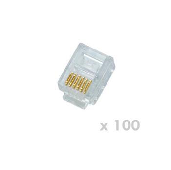 DATACOM Plug UTP CAT3 6p6c- RJ12 lanko - 100 pack