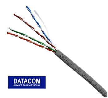 DATACOM UTP lanko CAT5E PVC 305m box šedý