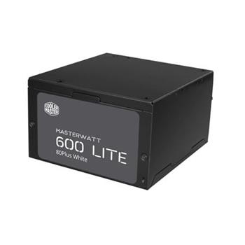 Cooler Master MasterWatt Lite (ErP 2013) 600W, aPFC, 12cm fan, certifikace 80+, eff. 85%, černý