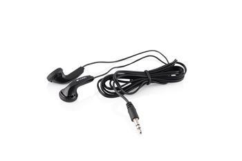 Modecom Logic LH-11 sluchátka do ucha, pecky, 1,2m kabel, 3,5mm jack, černá