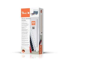 PEACH Vazací kroužky 21 Rg A4 12mm bílá (100) 1 balení obsahuje 100 kroužků PB412-01