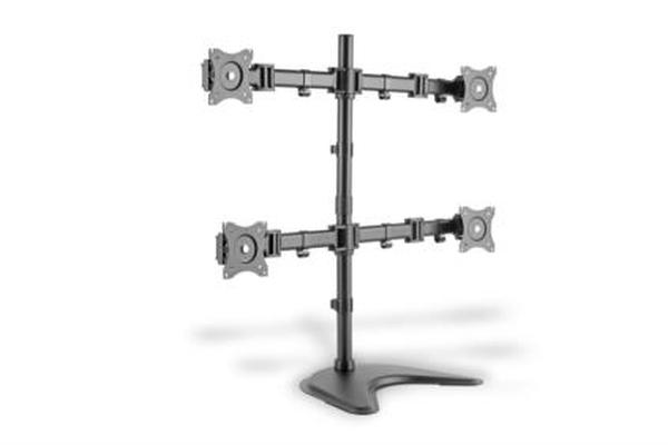 DigitusStolní stojan pro ctyři monitory/Upínací držáky, černý 15-27