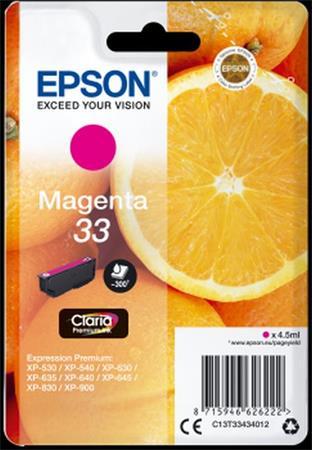 EPSON cartridge T3343 magenta (pomeranč)