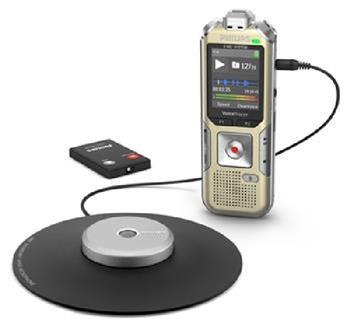 Philips digitální záznamník DVT8010 - 8GB, USB, microSDHC, nahrávání konferencí