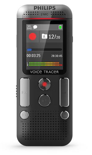 Philips digitální záznamník DVT2510 - 8GB, USB, microSDHC až 32GB, MP3, barevný displej