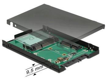 """Delock 2.5"""" Převodník SATA 22 pin > 1 x mSATA / 1 x CFast - 9,5 mm"""