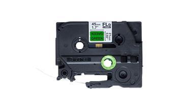 Brother - FLE7511, černá / zelená (24mm, nelaminovaný praporek)
