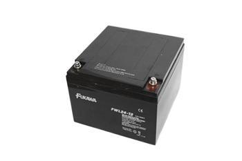akumulátor FUKAWA FWL 24-12 (12V; 24Ah; závit M5; životnost 10let)