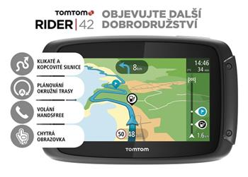 TomTom Rider 420 EU pro motocykly, LIFETIME mapy