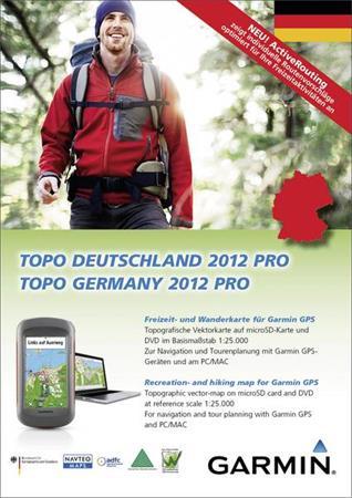 Garmin mapa TOPO Německo 2012 Pro, DVD + microSD/SD (with routable bike & hiking)