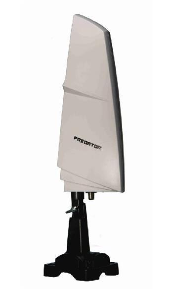 ZIRCON Predator kompaktní DVB-T (T2) anténa s LTE filtrem a zesilovačem pro vnitřní i venkovní použití (zisk 26dB)