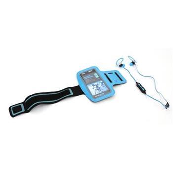 PLATINET sportovní bluetooth sluchátka PM1075 + popruh na paži modrá