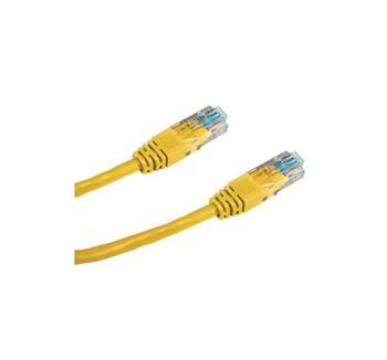 DATACOM Patch cord UTP CAT5E 0,25m žlutý