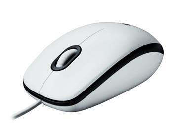 Logitech myš M100, optická, USB, 2 tlačítka, bílá, 1000dpi
