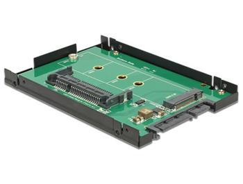 """Delock 2.5"""" Konverter SATA 22 Pin > 1 x M.2 / 1 x CFast - 9,5 mm Gehäuse"""