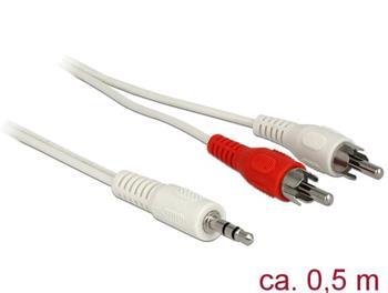 Delock Audio Kabel 3,5 mm stereo jack samec > 2 x RCA samec 0,5 m