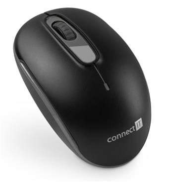CONNECT IT bezdrátová optická myš, černo-šedá